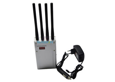 Professional Digital Portable Cell Phone Jammer 6.5 W With 4 Antennas