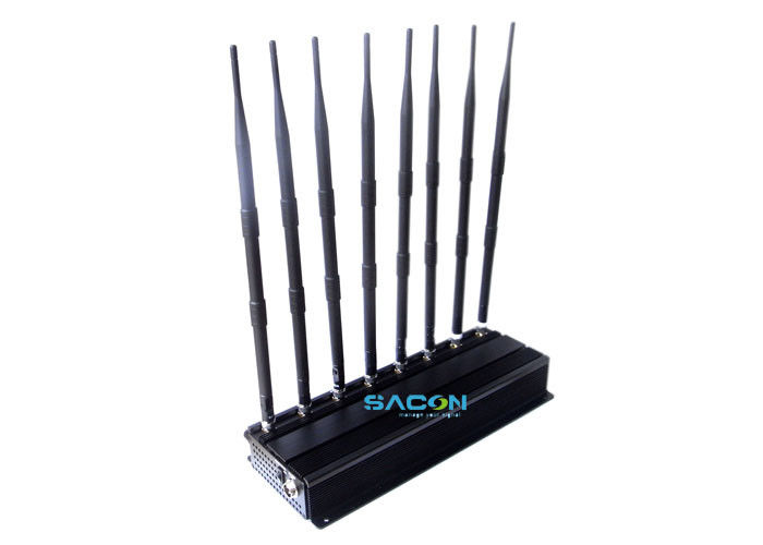 Indoor Mobile Phone Signal Jammer Blocker GPS WIFI 4g Cell Phone Jammer 8 Channels