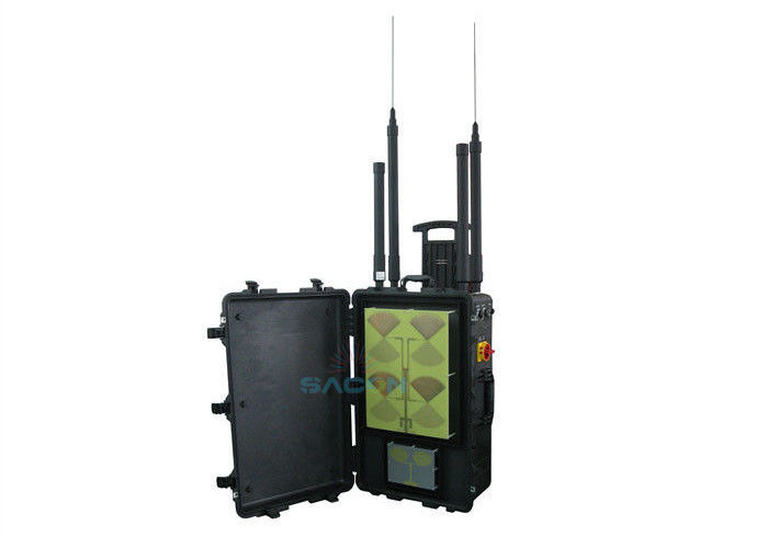 8 Bands Lojack Manpack Jammer , VHF UHF Jammer 400w Power VIP Protection